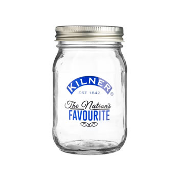 Image of Kilner 400ml Decorated Blue Preserve Jar