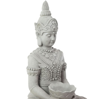 Extra image of Large 66cm Stone Look Guan Yin Buddha Statue Garden Ornament