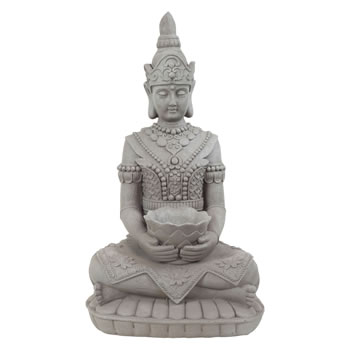 Image of Large 66cm Stone Look Fibreclay Guan Yin Buddha Statue Garden Sculpture Ornament