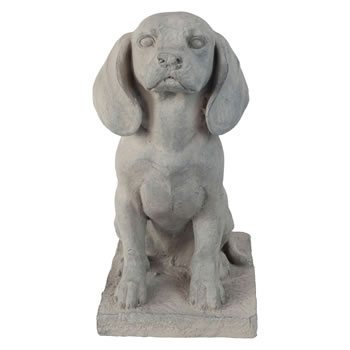 Extra image of Grey Stone Look 46cm Sitting Pointer Dog Garden Ornament