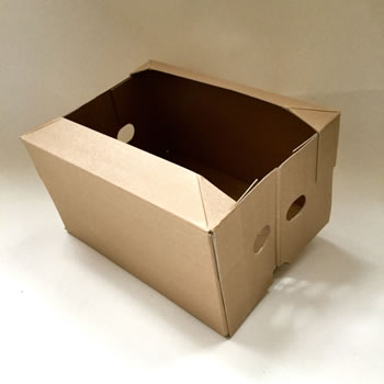 Image of 3 x Nutley's Collapsible Cardboard Vegetable Box Storage
