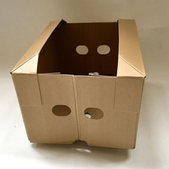 Extra image of 3 x Nutley's Collapsible Cardboard Vegetable Box Storage
