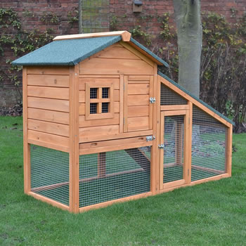 Image of Bunny Ark Natural Rabbit Hutch and Run