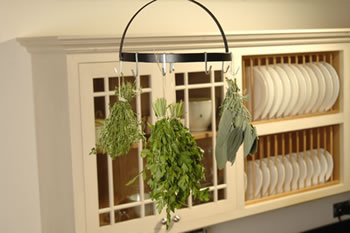 Image of Burgon & Ball Herb Harvest Drying Rack + Hooks: Made from Hand-Forged Steel