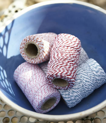 Extra image of Sophie Conran Striped Candy Twine Collection by Burgon & Ball