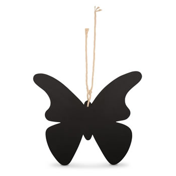 Image of Hanging Butterfly Memo Notice Blackboard