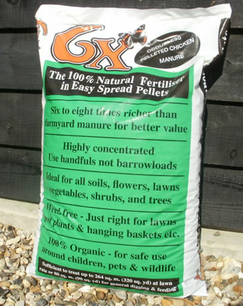 Image of 20kg 6x Organic Pelleted Chicken Manure