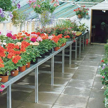 Image of Heavy Duty Greenhouse Benching - Single Tier - 16ft long x 48