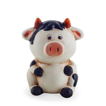 Image of Terracotta Sitting Cow Money Box