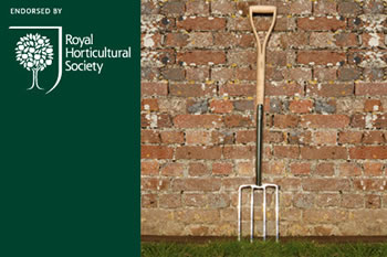 Image of Burgon & Ball Hardwood Digging Fork, Royal Horticultural Society RHS Endorsed