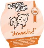 Small Image of Meowing Heads Drumstix 85g x 8 made with 90% Chicken & Turkey