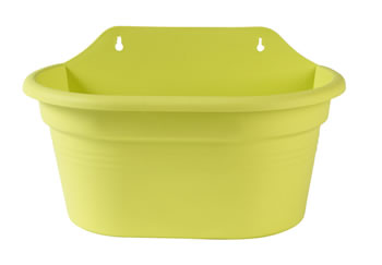 Image of Elho Wall Basket Pot 30cm - Green