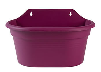 Image of Elho Wall Basket Pot 30cm - Pink