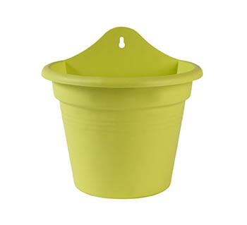 Image of Elho Wall Basket Pot 21cm - Green