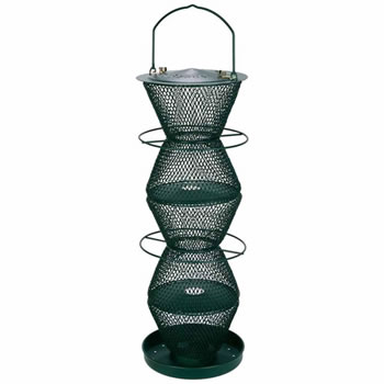 Image of No/No Forest Green Five Tier Wild Bird Feeder with Tray