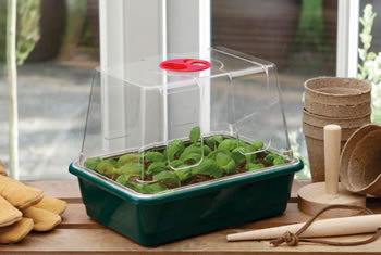 Image of 3 x Garland Small High-Dome Half-Size Seed Propagators