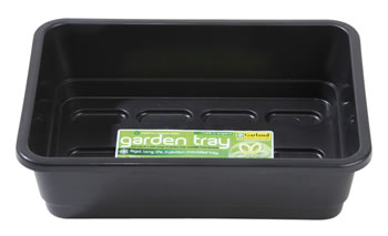 Image of Garland Standard Half-Size Seed Tray: Black, With holes