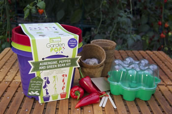 Image of GardenPop Rainbow Veg Growing Kit - With Seed Propagator