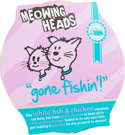 Image of Meowing Heads Gone Fishing 8x85g - 80% White Fish + Chicken Content