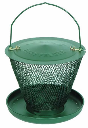 Image of No/No Forest Green Single Tier Wild Bird Feeder with Tray
