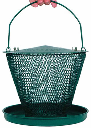 Extra image of No/No Forest Green Single Tier Wild Bird Feeder with Tray