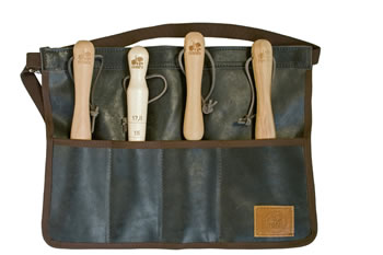 Image of Haws Traditional Leather Roll Apron Tool Belt Holster