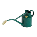 Small Image of Haws Hand-Made 1L Metal Watering Can & Brass Rose - Racing Green