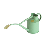 Small Image of Haws Hand-Made 1-litre Metal Watering Can & Brass Rose, Gift Boxed, Sage Green
