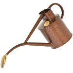 Small Image of Haws Hand-Made 1-litre Metal Watering Can & Brass Rose Gift Boxed Bronze