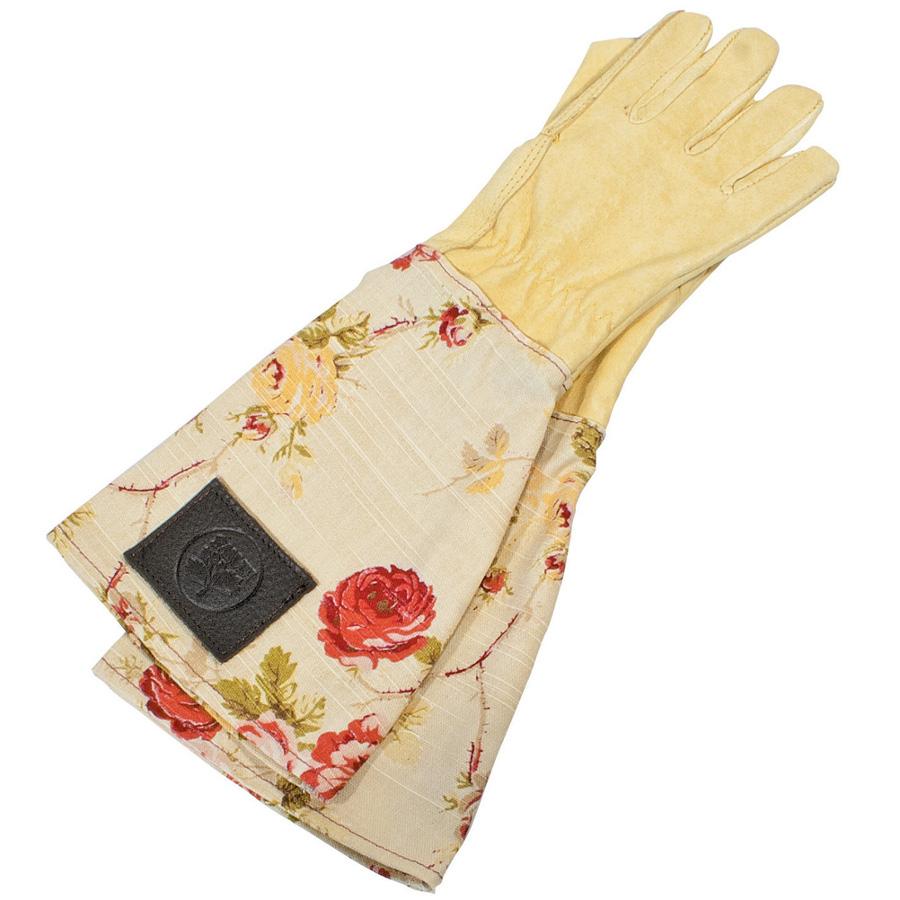 Haws leather ladies floral gardening gloves handmade for Gardening gloves ladies