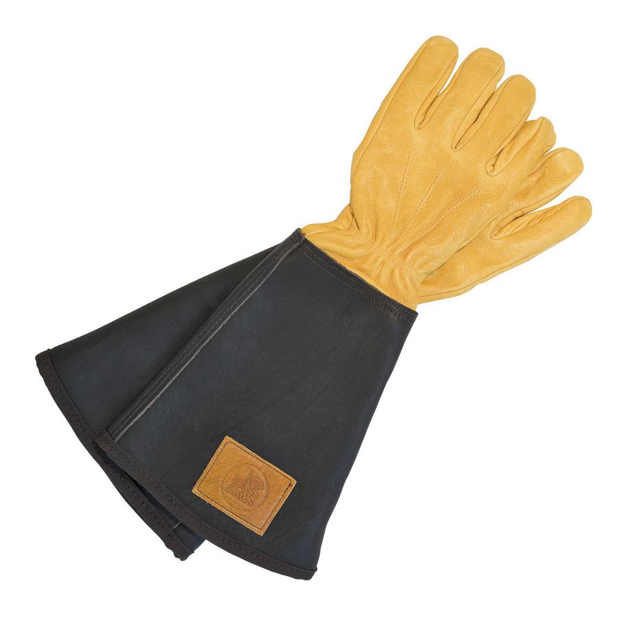 Men S Leather Gauntlet Gardening Gloves Garden Ftempo