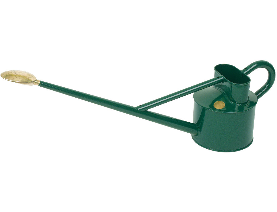 Haws professional long reach metal watering can 4 5 litre british made green Long reach watering can