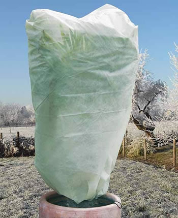 Image of 2 x Haxnicks Large Easy Fleece Jackets: Frost Protection for Plants - 1.8m x 1.2m