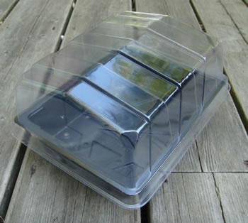 Image of 3x Half-Size Propagator Lids: for Seeds & Cuttings