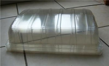 Image of 6 Clear Plastic Full Size Seed Propagator Lids: for seed trays