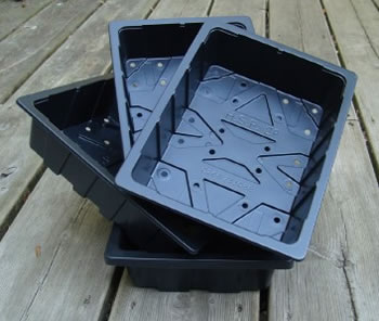Image of 6x Half-Size Recycled Seed Trays: for Seeds and Cuttings