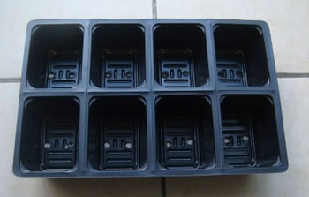 Image of 6x 8-Cell Seed Tray Cavity Inserts: Recycled Pastic & Extra Deep