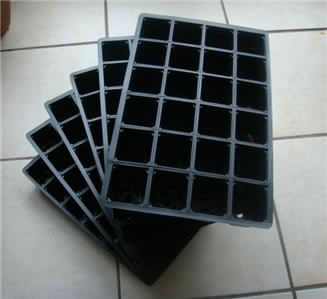 Image of 3x 24-Cell Seed Tray Cavity Inserts: Recycled Plastic