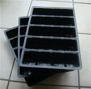 Image of 3x 5-Cell Seed Tray Cavity Inserts: Recycled Plastic
