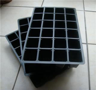 Image of 3x 40-Cell Seed Tray Cavity Inserts: Recycled Plastic