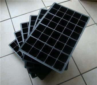 Image of 6x 40-Cell Seed Tray Cavity Inserts: Recycled Plastic