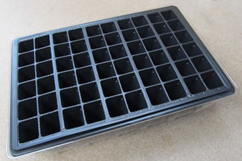 Image of 6x 60-Cell Seed Tray Cavity Inserts: Recycled Plastic