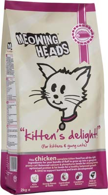 Image of Meowing Heads Kittens Delight  250g