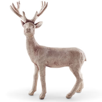 Image of 21cm Standing Metallic Gold Christmas Stag Ornament