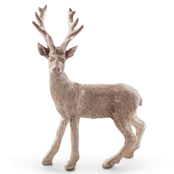 Image of 15cm Standing Metallic Gold Christmas Stag Ornament