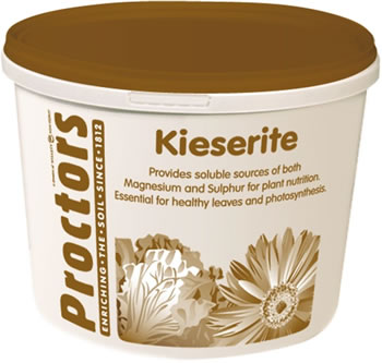 Image of 5kg tub of Proctors Kieserite rose, tree, fruit plant fertiliser in airtight tub