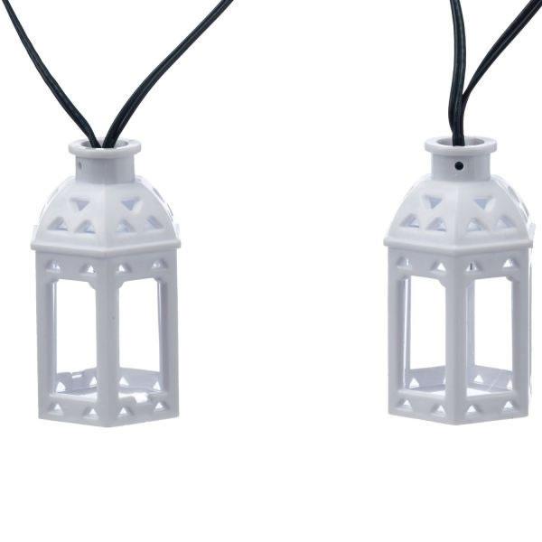 Moroccan Lantern String Lights : Smart Solar 16 White LED Moroccan Lantern String Lights (1060830RD) - ?18.99 Garden4Less UK Shop