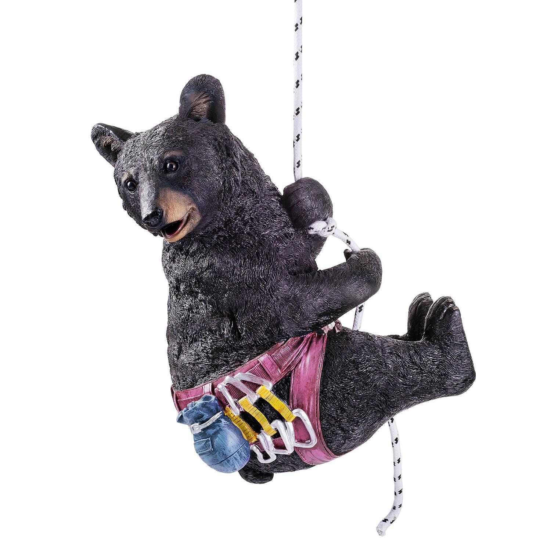 Hamilton the large black bear hanging rock climbing garden for Hanging garden ornaments