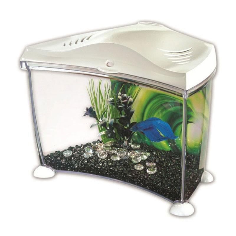 Marina betta kit white 7l garden4less uk shop for Spring water for fish tank