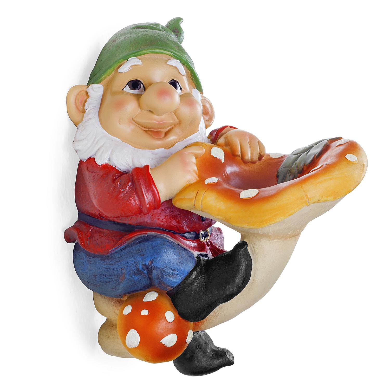 Gnome In Garden: Saxon The Large Garden Gnome On Mushroom Ornament For Tree